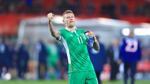 James McClean fired the Republic of Ireland to World Cup Group D victory in Austria