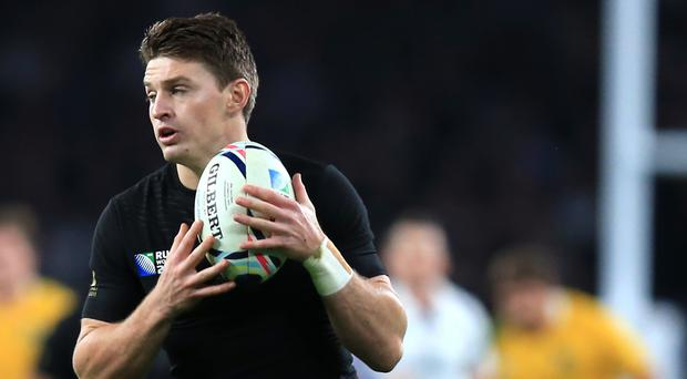 New Zealand's Beauden Barrett, pictured, could overtake Dan Carter with the most number of conversions in a calendar year for the All Blacks