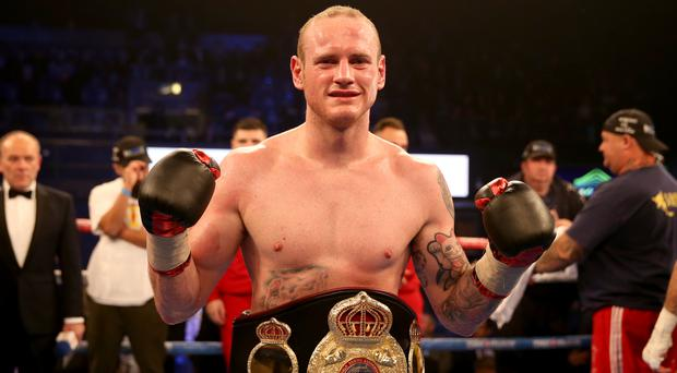 George Groves celebrates victory over Eduard Gutknecht