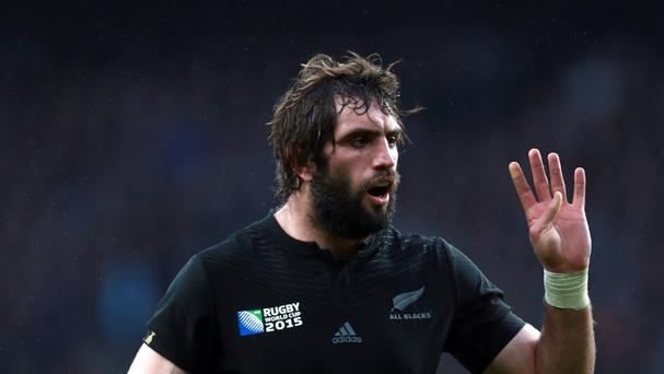 New Zealand's Sam Whitelock bossed the lineout against Ireland