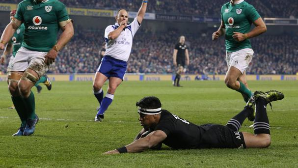 New Zealand's Malakai Fekitoa scored two tries against Ireland