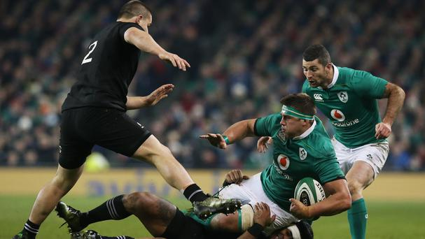 CJ Stander, second from right, Rob Kearney, far right, and Simon Zebo are fighting to be fit for Saturday's clash with Australia