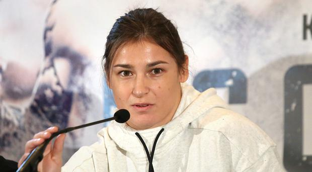 Katie Taylor spoke at press conference in London prior to her professional debut on Saturday
