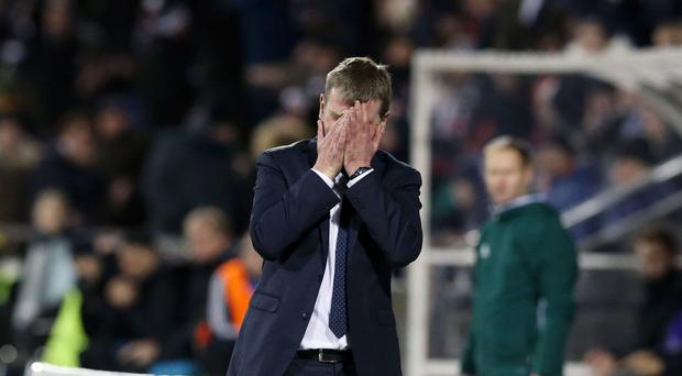 Dundalk manager Stephen Kenny saw his side lose to AZ Alkmaar