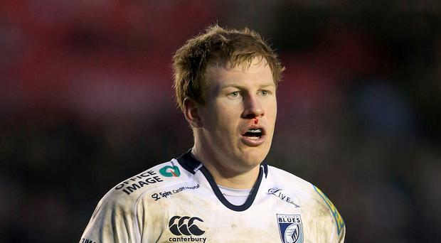 Former Cardiff Blues fly-half Rhys Patchell kicked 10 points for the Scarlets
