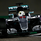 Mercedes' Lewis Hamilton during practice at Yas Marina Circuit, Abu Dhabi