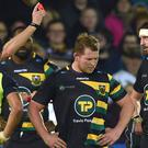 Dylan Hartley was sent off in Northampton's defeat