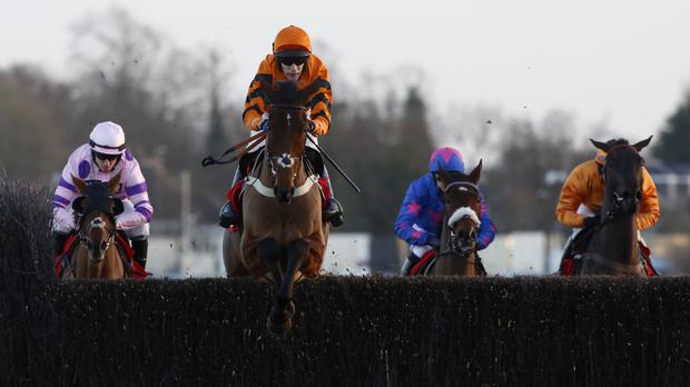 Thistlecrack leads his rivals a merry dance