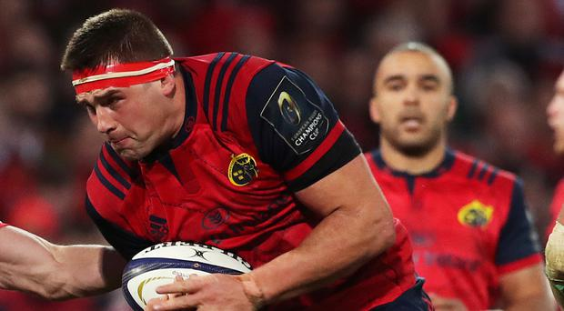 CJ Stander was among Munster's try-scorers and then paid tribute to Anthony Foley