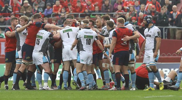 Glasgow found themselves swept up against a tide of emotion last time they faced Munster in Europe