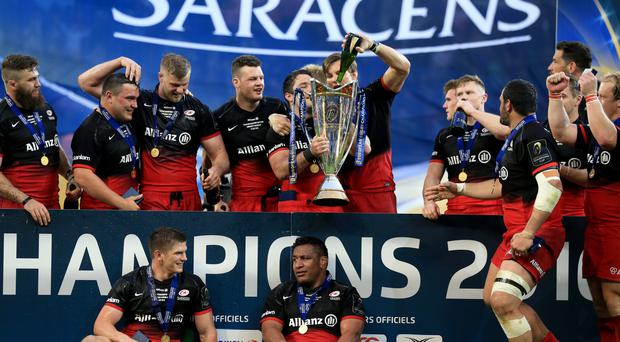Saracens won the European Champions Cup last season