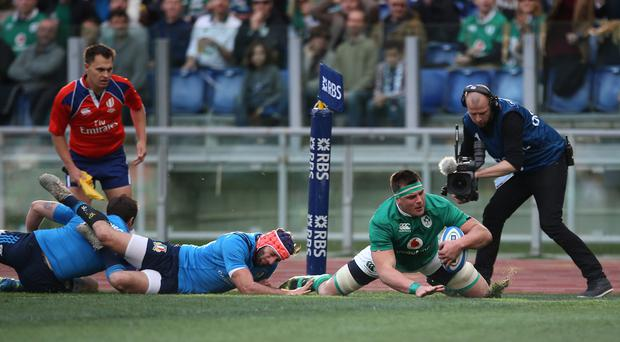 CJ Stander was outstanding for Ireland at the Stadio Olimpico