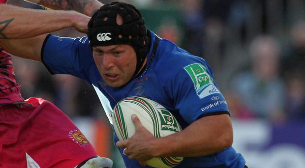 Leinster's Richard Strauss scored a try in the win over Newport