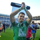 Tiernan O'Halloran scored a try on his birthday for Pro12 champions Connacht