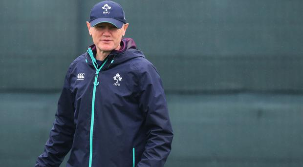 Joe Schmidt, pictured, has insisted Ireland would be playing with fire by seeking to exploit George North's criticised defence