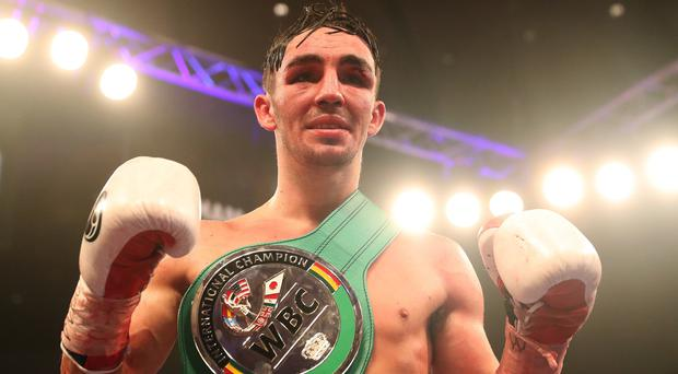 Jamie Conlan celebrates his victory over Yader Cardoza
