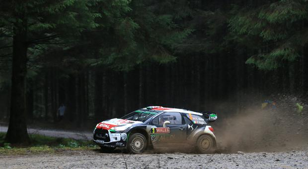 Kris Meeke leads the way in Mexico