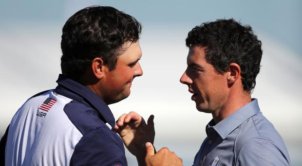 A 'ruthless' Rory McIlroy, right, would love to face Ryder Cup foe Patrick Reed in the final in Austin