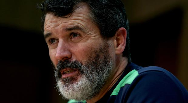 Roy Keane offered footballing advice to two schoolgirls on Tuesday
