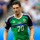 Craig Cathcart's last Northern Ireland appearance was at Euro 2016