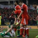 Seamus Coleman suffered a double-leg fracture in the World Cup qualifying match against Wales