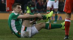 Republic of Ireland captain Seamus Coleman is expected to leave hospital on Wednesday