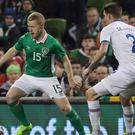 Republic of Ireland winger Daryl Horgan, left, has a World Cup dream