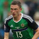 Corry Evans was in the Northern Ireland squad last week but did not feature