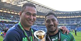 Bundee Aki, right, could still play for Ireland in November even if World Rugby change the residency qualification rules in May