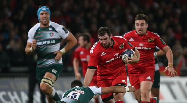 Munster's James Cronin scored a try against Glasgow