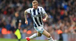 West Brom's James McClean