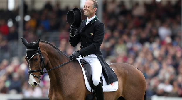 Ireland's Jonty Evans lies third after dressage at the Mitsubishi Motors Badminton Horse Trials