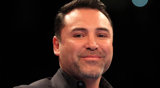 Oscar De La Hoya, pictured, has hit out at a proposed showdown between Floyd Mayweather and Conor McGregor