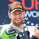 Tom Sykes won the first race of the UK round of the World Superbikes Championship at Donington Park
