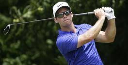 Paul Casey is two shots behind the leader (AP)