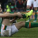 Republic of Ireland skipper Seamus Coleman is recovering from a double leg fracture