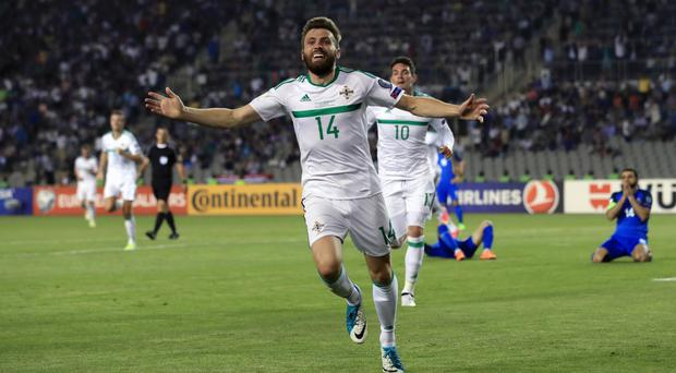 Stuart Dallas' first competitive goal lifted Northern Ireland to an unlikely victory
