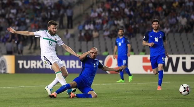 Stuart Dallas' strike was crucial in Northern Ireland's pursuit of second place in Group C