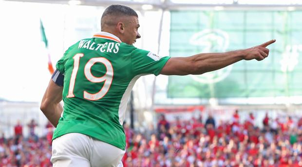 Jonathan Walters netted the equaliser for Ireland