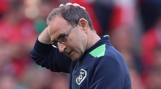 Republic of Ireland manager Martin O'Neill, pictured, was unhappy with referee David Borbalan