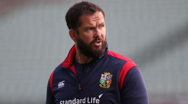 Andy Farrell, pictured, has insisted Steve Hansen's mind games are