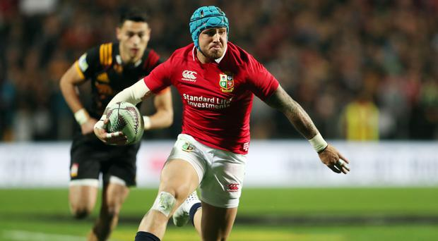 Jack Nowell scored twice for the Lions