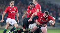 Tadhg Furlong, right, has revealed Stuart Lancaster pushed him to chase British and Irish Lions selection