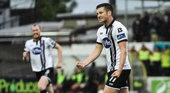 Patrick McEleney on target for Dundalk in their win against Galway