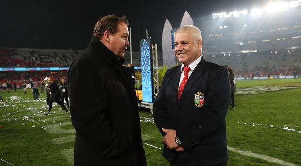Warren Gatland, right, and Steve Hansen agree extra-time would have been an unusual step to take at Eden Park