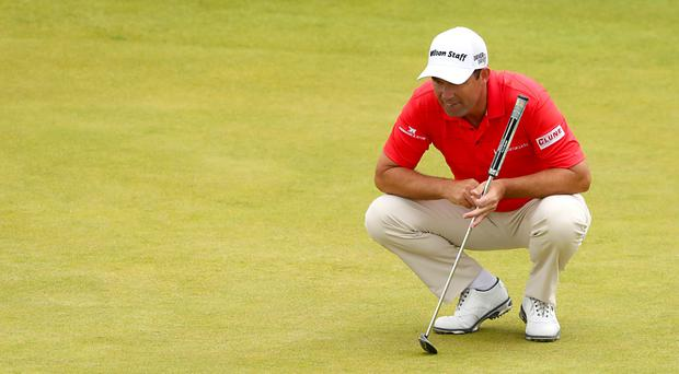 Padraig Harrington set the clubhouse target on day two