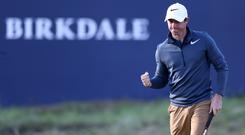 Rory McIlroy rescued his Open chances with an impressive back-nine recovery at Royal Birkdale