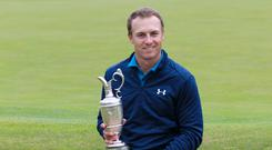 New Open champion Jordan Spieth is three-quarters of the way to a career grand slam of majors