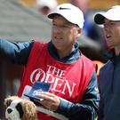 Northern Ireland's Rory McIlroy, right, and caddie JP Fitzgerald