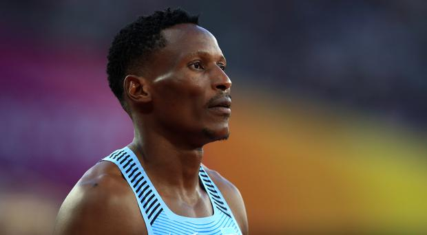 Isaac Makwala was unable to compete in Tuesday's final